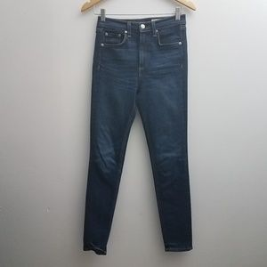 Rag & Bone Jeans 25 High Rise Skinny Slim Dark Blu